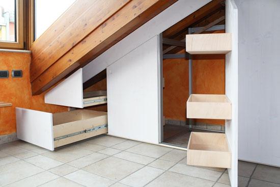 Marcaclac mobili evoluti arredo mansarda marcaclac for Arredare sottotetto basso