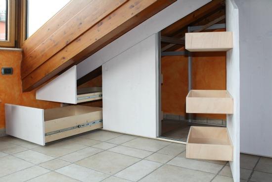 Marcaclac mobili evoluti armadi mansarda - Camera da letto sottotetto ...