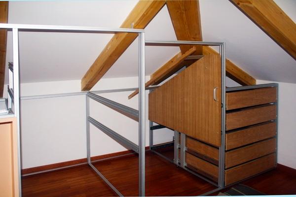 Marcaclac mobili Evoluti armadio-mansarda-montaggio struttura ...