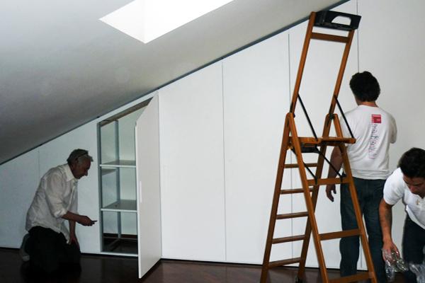 armadio mansarda su misura