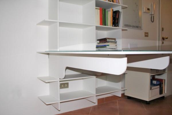 Libreria Crociata con scrivania