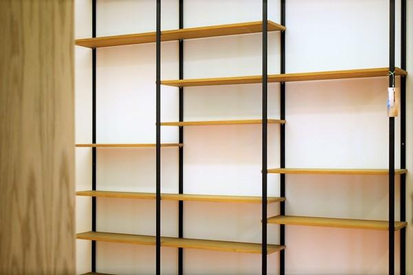 Libreria Leggera Teak vista frontale