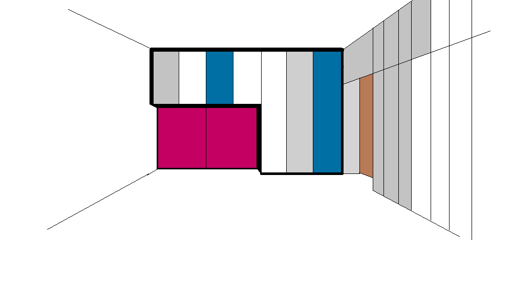 Armadio per Mario - Prova colore  1