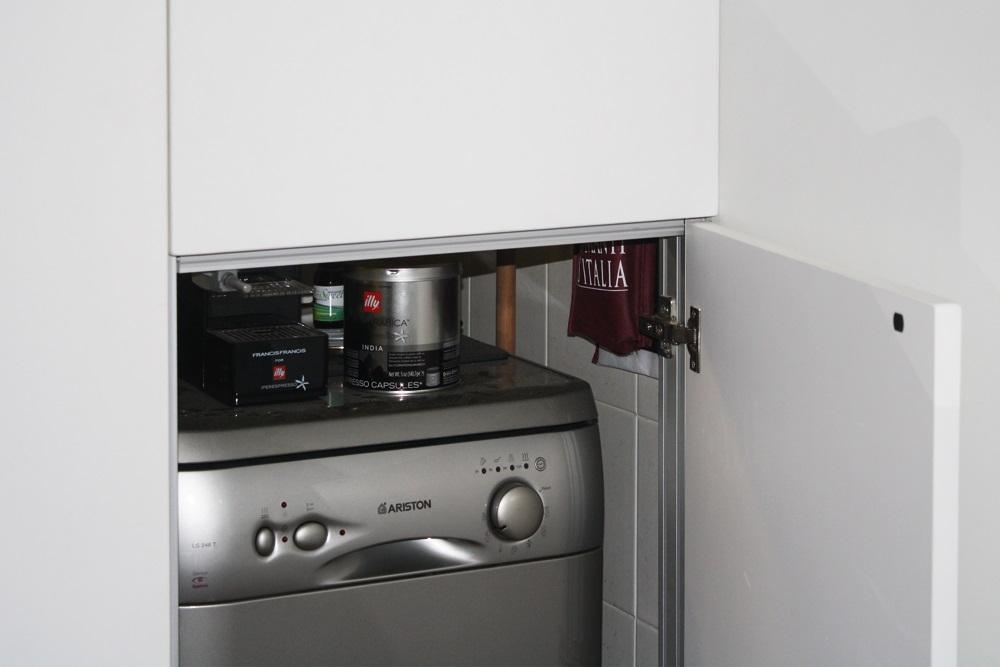 parete armadio, lavastoviglie