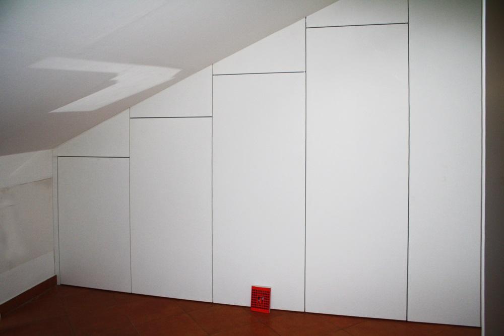 armadio parete con cucina integrata