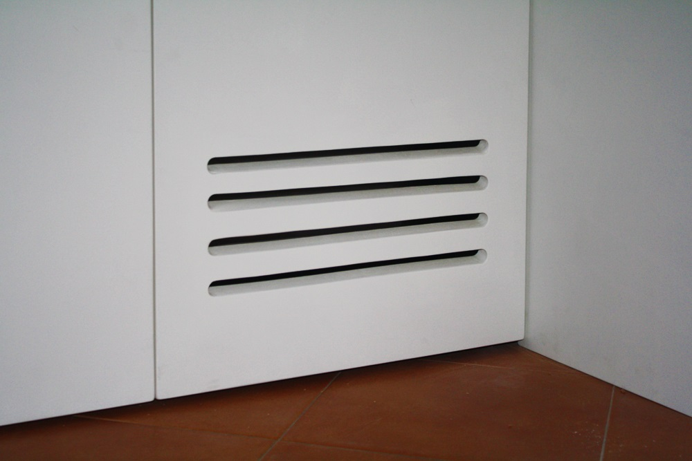 armadio su misura, griglia di areazione