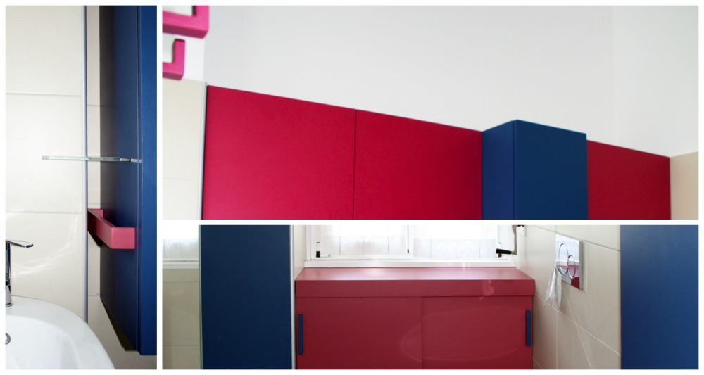 mobili su misura anche in bagno