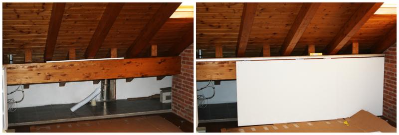 Finest armadio mansarda collocato sulla parete opposta for Scarpiera bassa