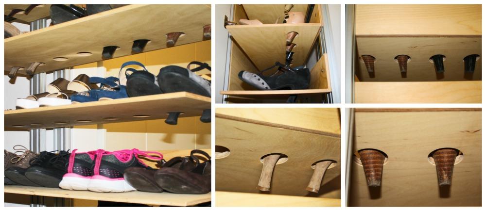 Marcaclac mobili evoluti scarpiera personalizzabile su misura - Portascarpe a parete ...