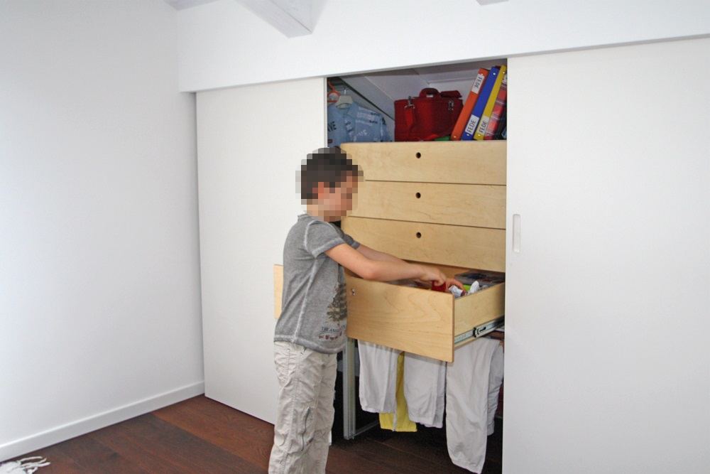 Marcaclac mobili evoluti camerette ragazzi con armadi mansarda - Armadi camerette bimbi ...