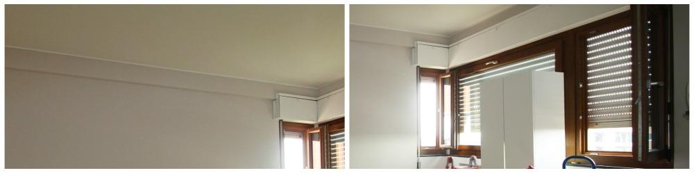 trave al soffitto e finestra ad angolo