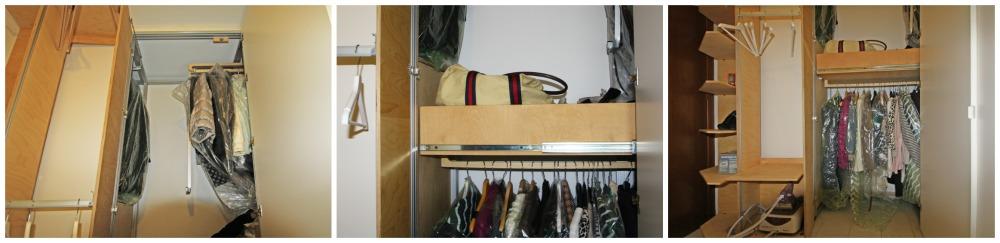 armadio angolare con interni scorrevoli