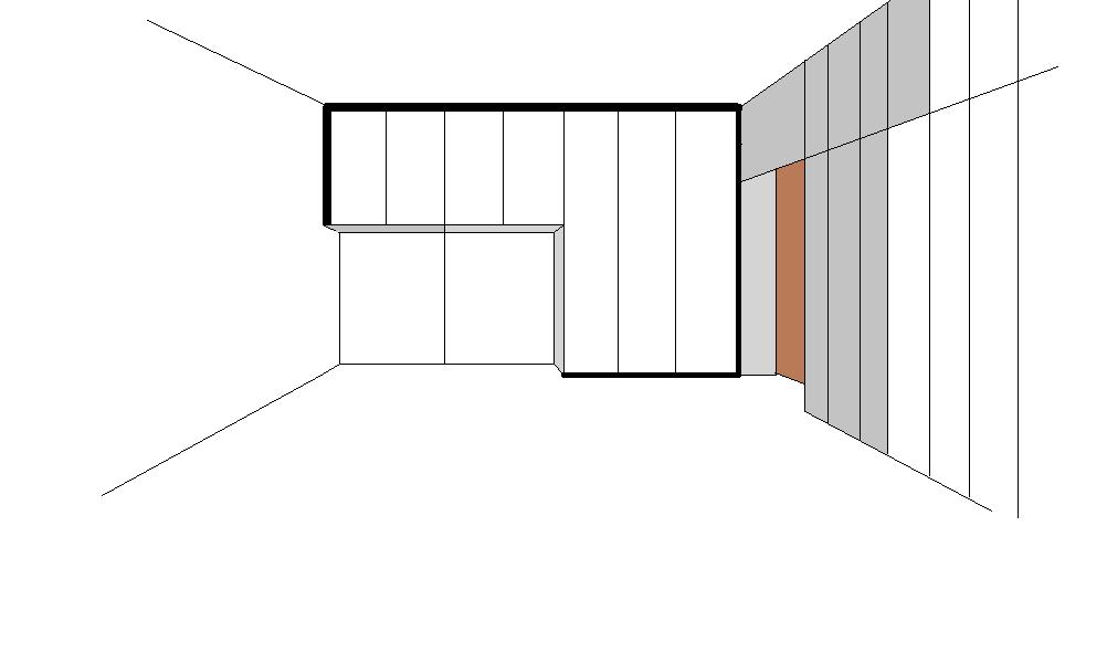 armadio ad angolo disegno
