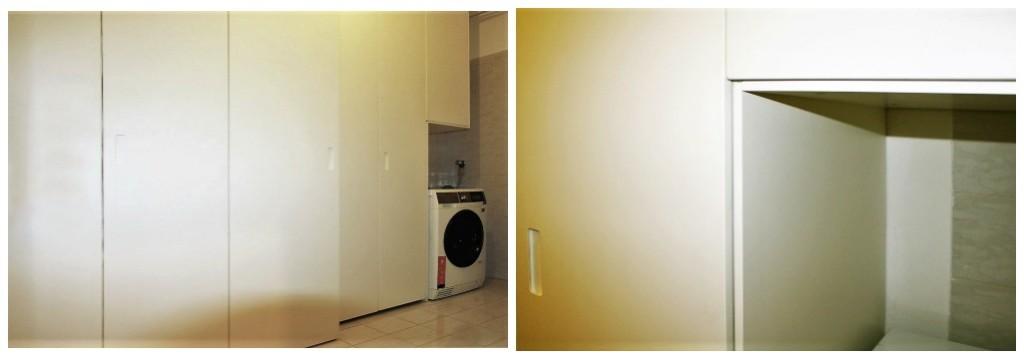 Armadio bianco in lavanderia