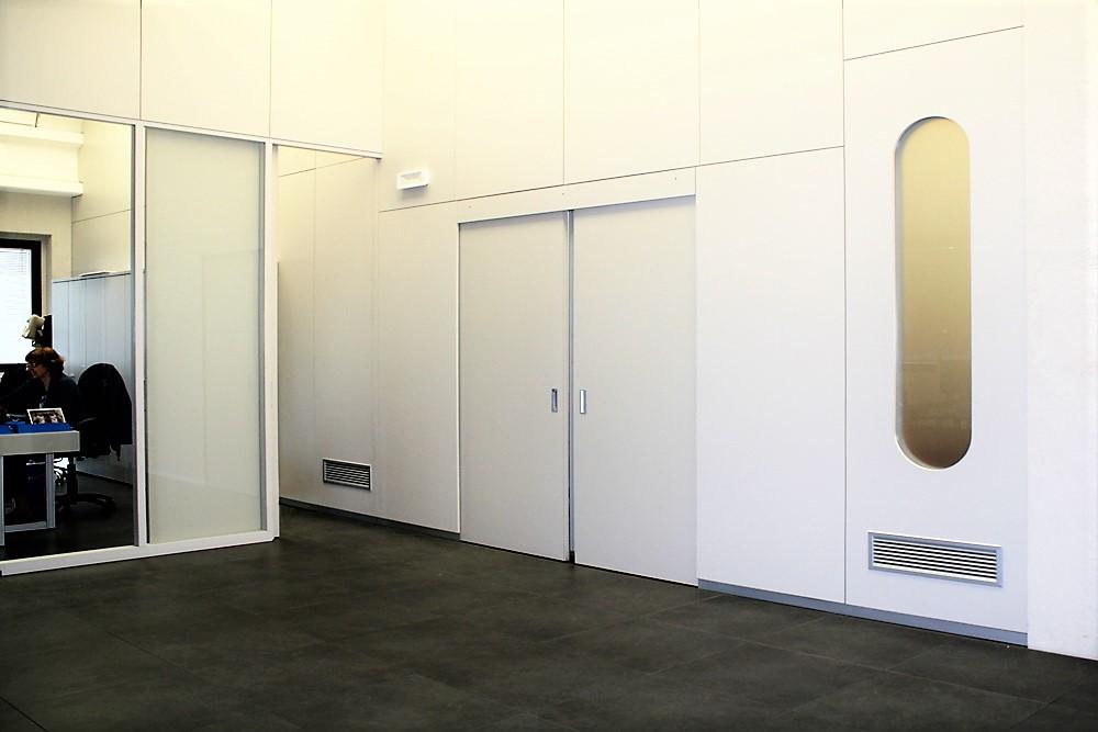 parete divisoria realizzata con Tecnologia Marcaclacsistema