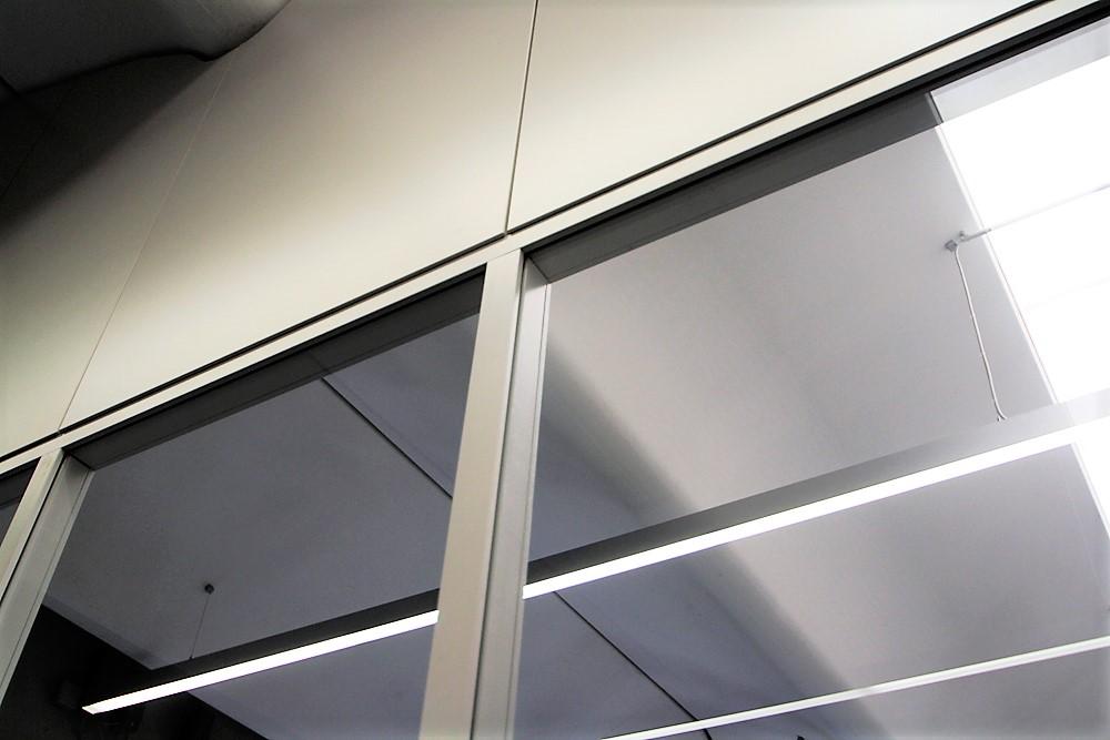 interparete a vetri, altezza 5 metri