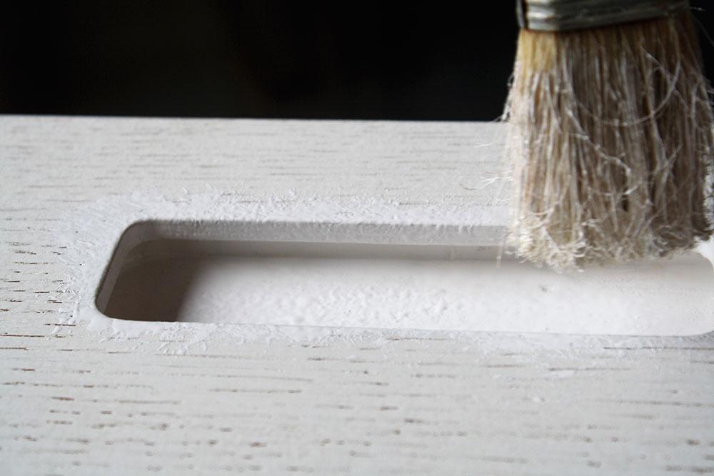 Armadio su misura dipinto a mano con prodotti Biofa