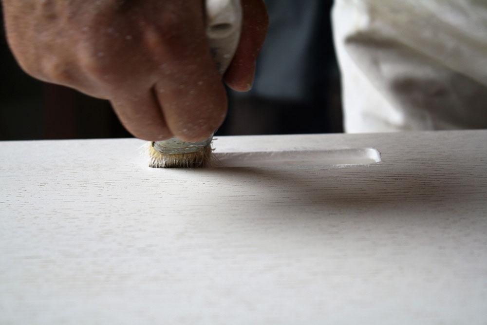 Armadio straordinario dipinto a mano