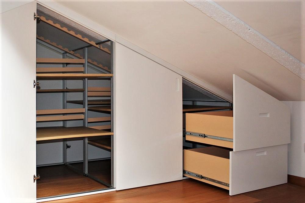Marcaclac mobili evoluti armadio mansarda bifacciale for Prezzi mansarde