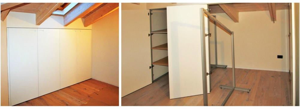 armadio mansarda chiuso fra due pareti