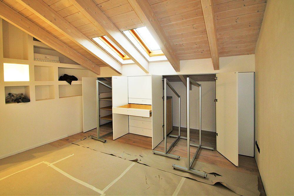 armadio mansarda interni in multistrato finlandese