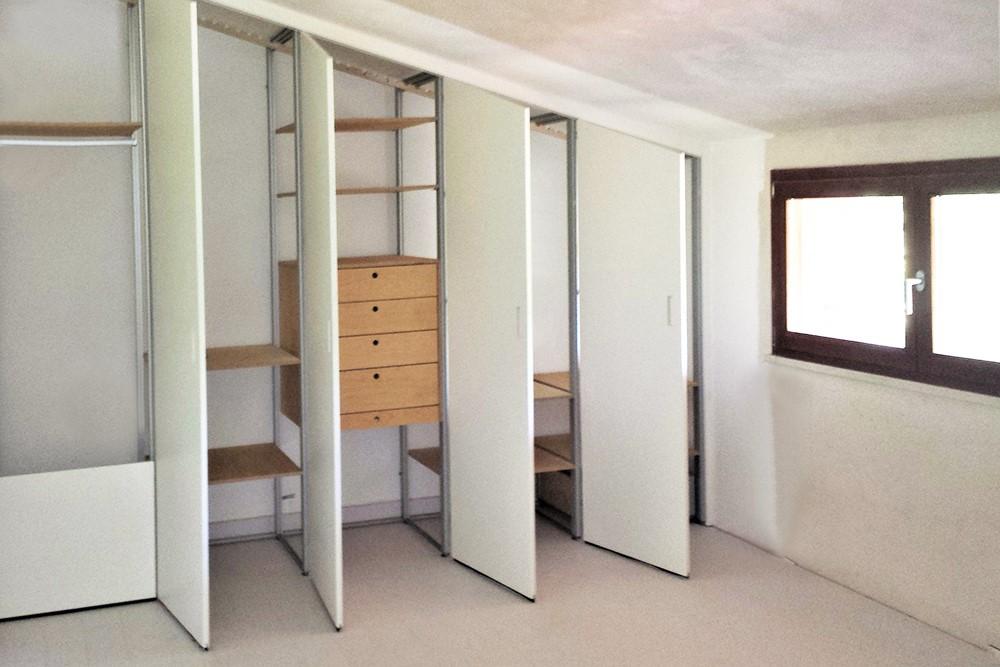 armadio-mansarda bianco interno