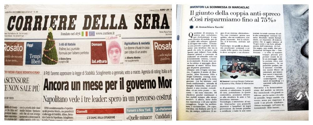 Corriere della sera articolo su Marcaclac