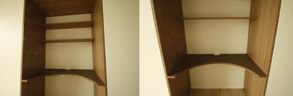 Piccola stazione studio nell'armadio