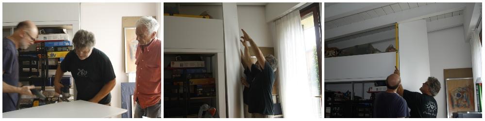 montare mobili su misura faticoso lavoro