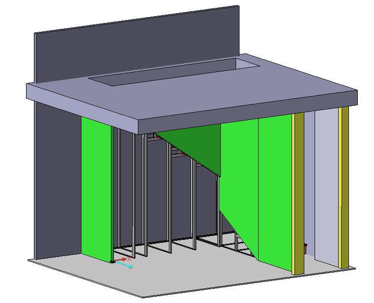 Armadio scala disegno tecnico